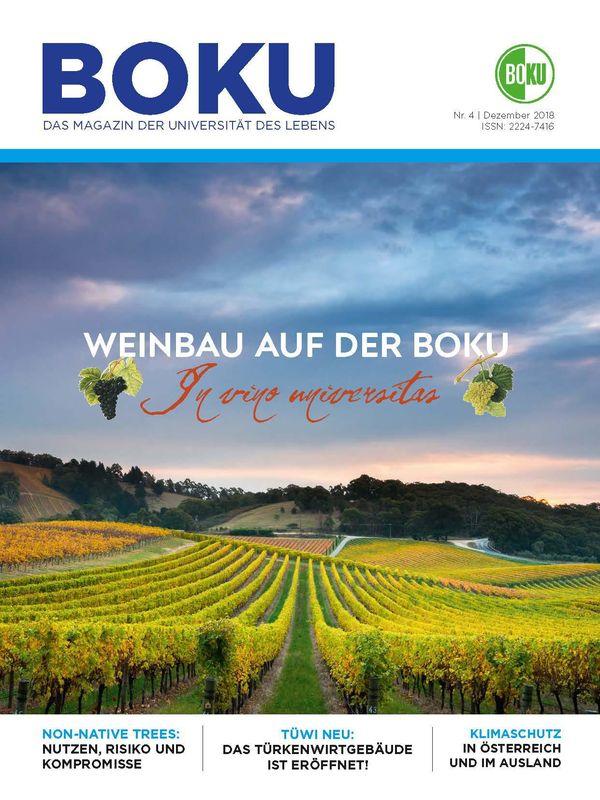 Cover of the book 'BOKU - Das Magazin der Universität des Lebens, Volume 4/2018'