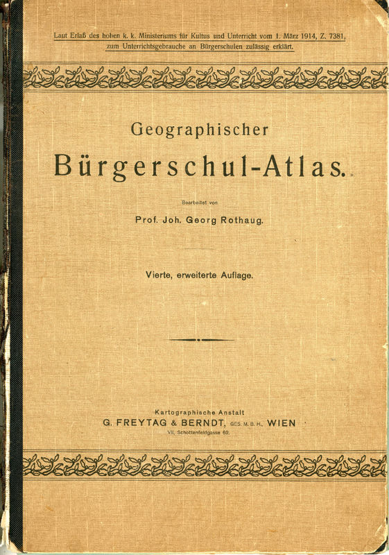 Cover of the book 'Geographischer Bürgerschul-Atlas'