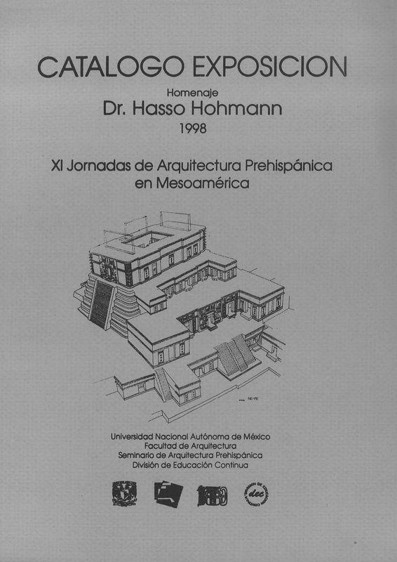 Bucheinband von 'Catalogo Exposicion - XI Jornadas de Arquitectura Prehispánica en Mesoamérica'
