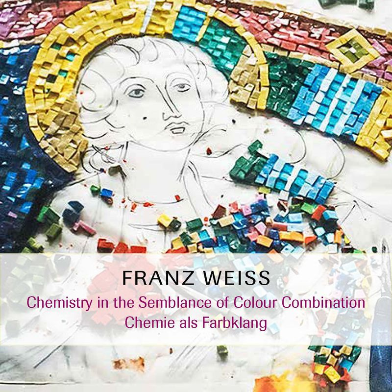 Bucheinband von 'FRANZ WEISS - Chemistry in the Semblance of Colour Combination; Chemie als Farbklang'