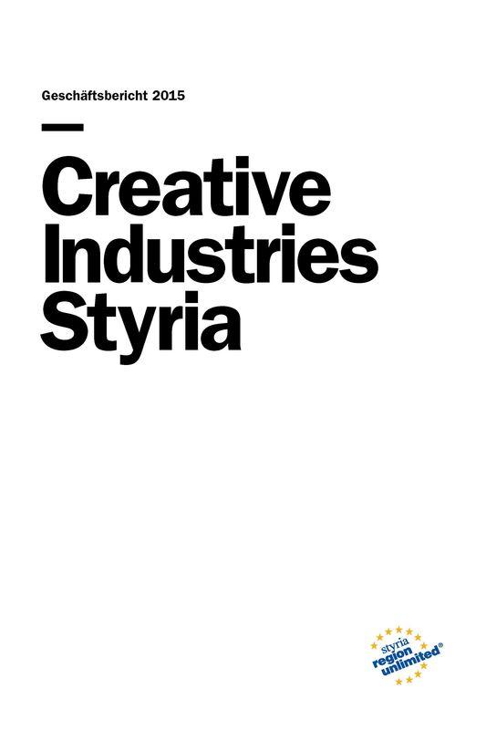 Bucheinband von 'Creative Industries Styria - Geschäftsbericht 2015'