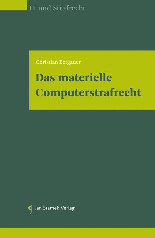 Bucheinband von 'Das materielle Computerstrafrecht'