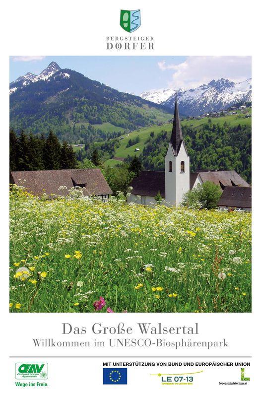 Bucheinband von 'Das Große Walsertal - Willkommen im UNESCO- Biospährenpark'