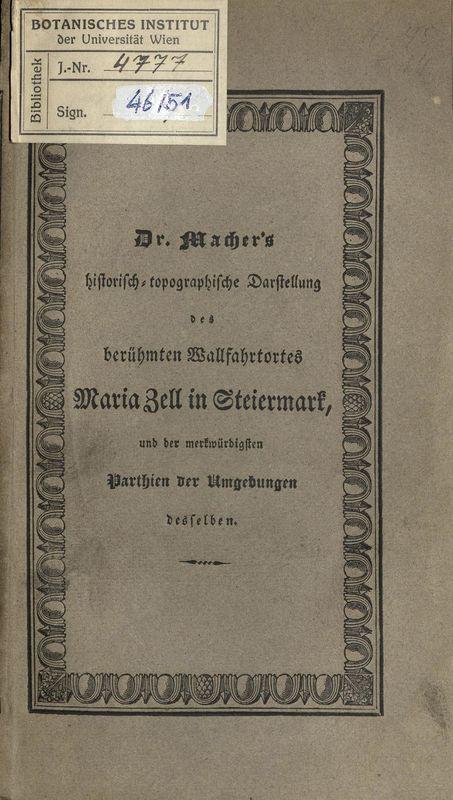 Bucheinband von 'Der berühmte Wallfahrtort Maria Zell in Steiermark'