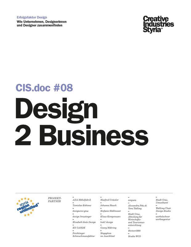 Bucheinband von 'CIS.doc #08 Design 2 Business'