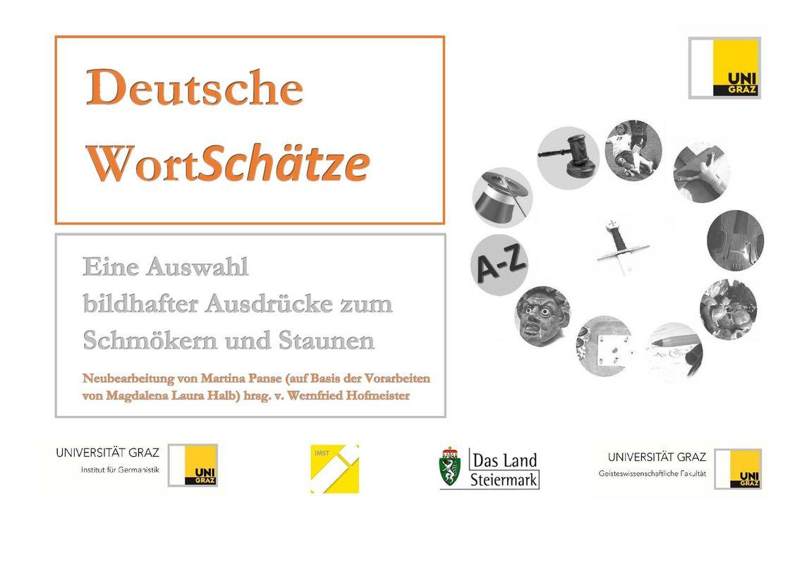 Bucheinband von 'Deutsche WortSchätze - Eine Auswahl bildhafter Ausdrücke zum Schmökern und Staunen'