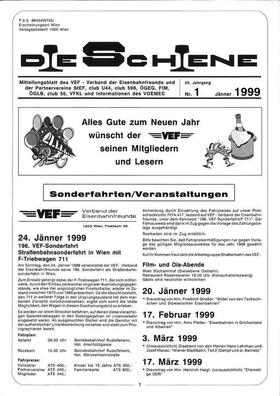 Bucheinband von 'Die Schiene, Band 25/01'
