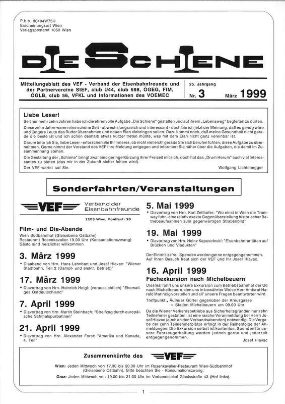 Bucheinband von Die Schiene, Band 25/03