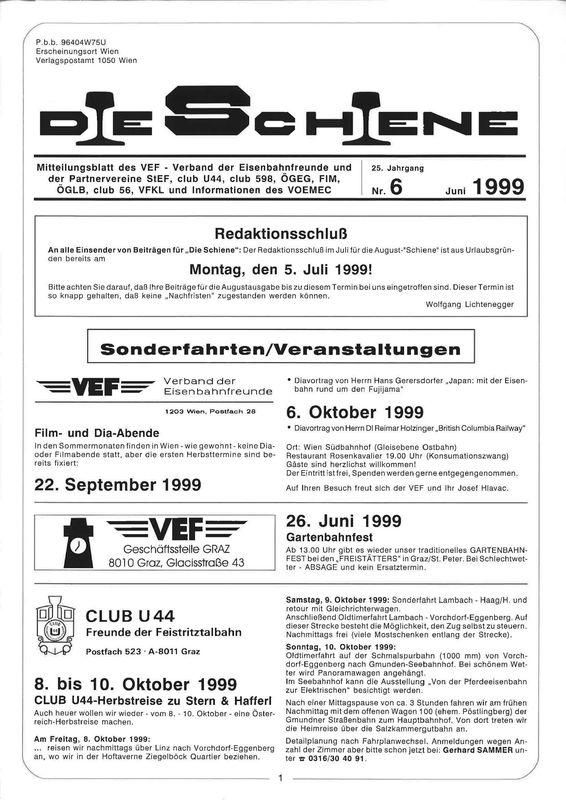 Bucheinband von 'Die Schiene, Band 25/06'