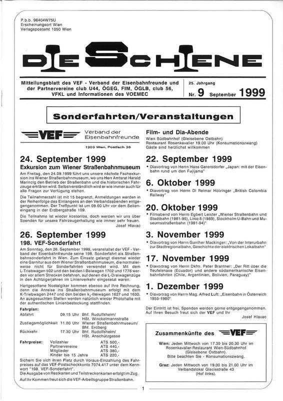 Bucheinband von Die Schiene, Band 25/09