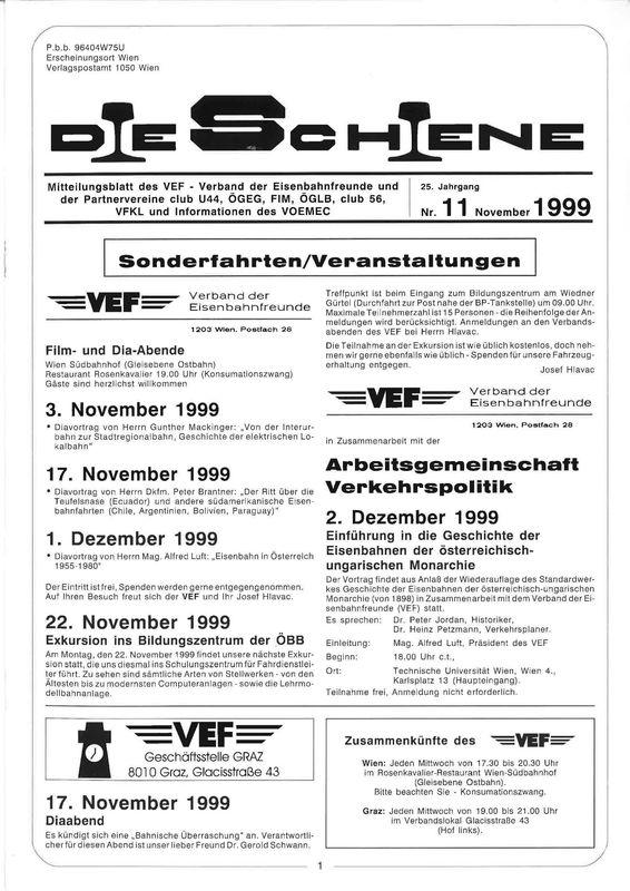 Bucheinband von 'Die Schiene, Band 25/11'