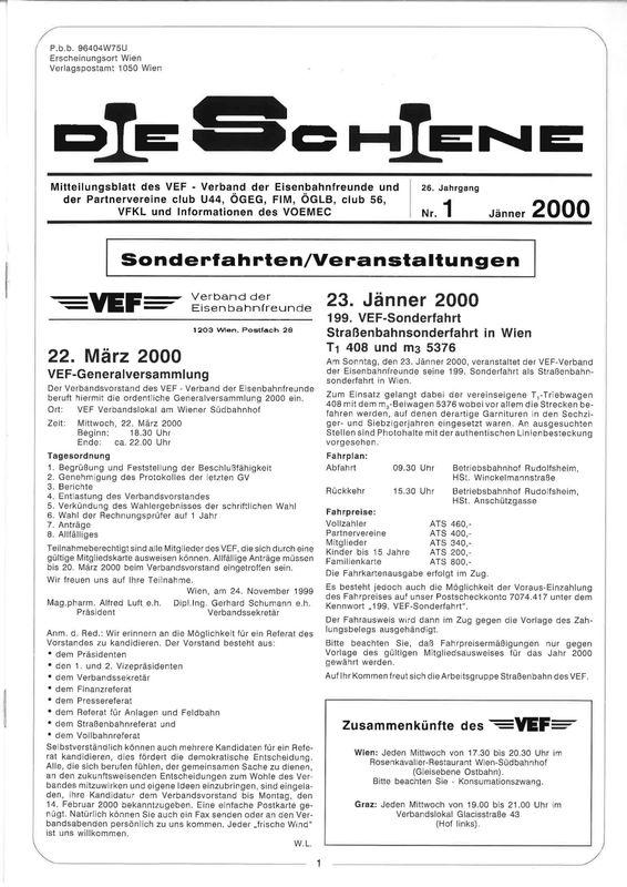 Bucheinband von Die Schiene, Band 26/01