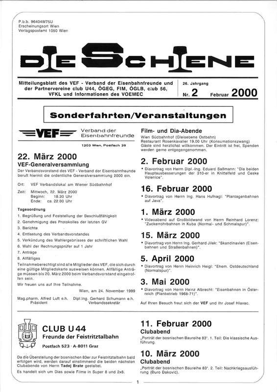 Bucheinband von 'Die Schiene, Band 26/02'