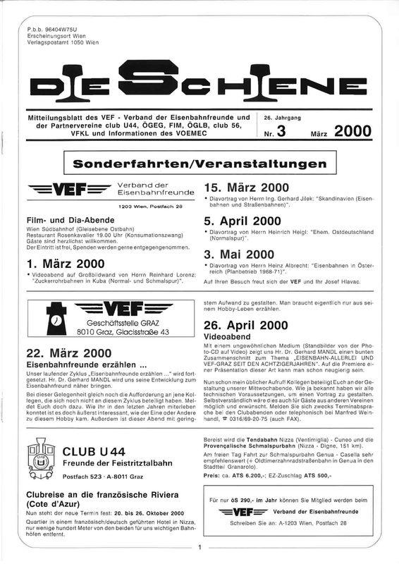 Bucheinband von Die Schiene, Band 26/03