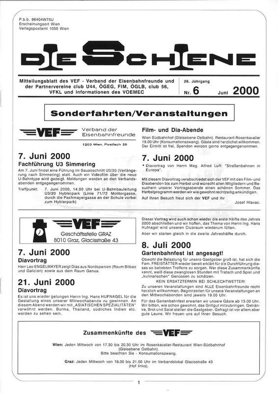 Bucheinband von Die Schiene, Band 26/06