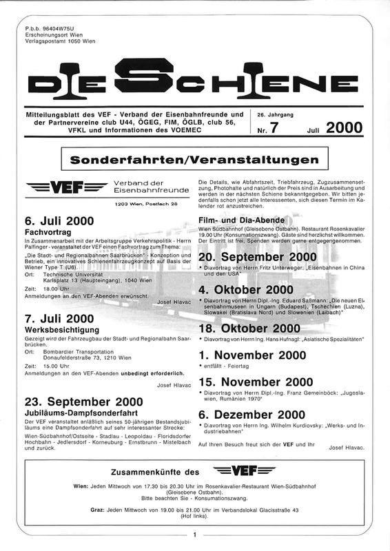 Bucheinband von 'Die Schiene, Band 26/07'