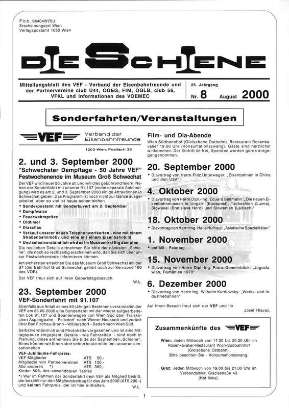 Bucheinband von 'Die Schiene, Band 26/08'