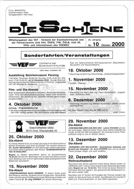 Bucheinband von 'Die Schiene, Band 26/10'