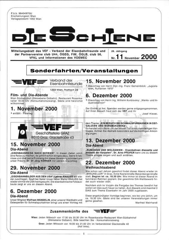 Bucheinband von Die Schiene, Band 26/11