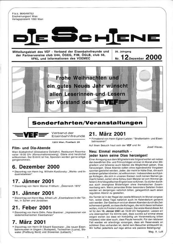 Bucheinband von Die Schiene, Band 26/12