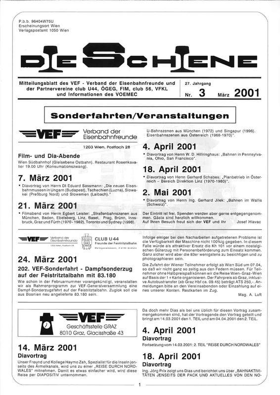 Bucheinband von 'Die Schiene, Band 27/03'