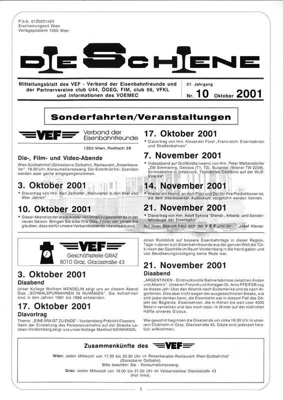 Bucheinband von Die Schiene, Band 27/10