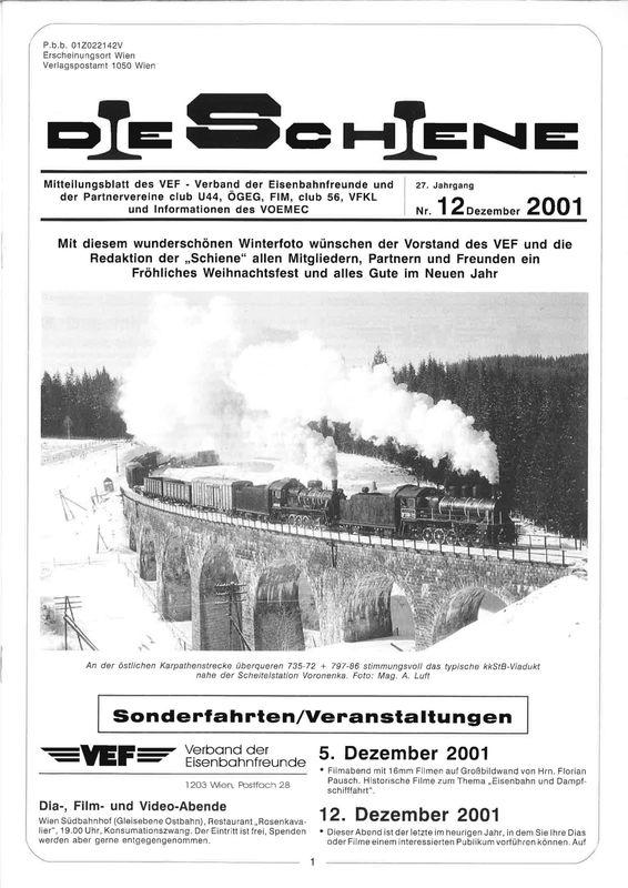 Bucheinband von Die Schiene, Band 27/12