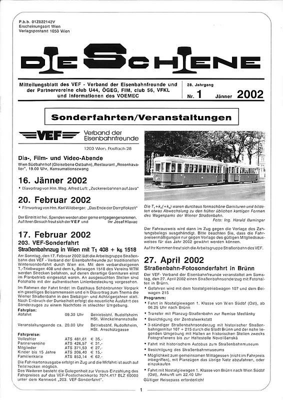 Cover of the book 'Die Schiene, Volume 28/01'
