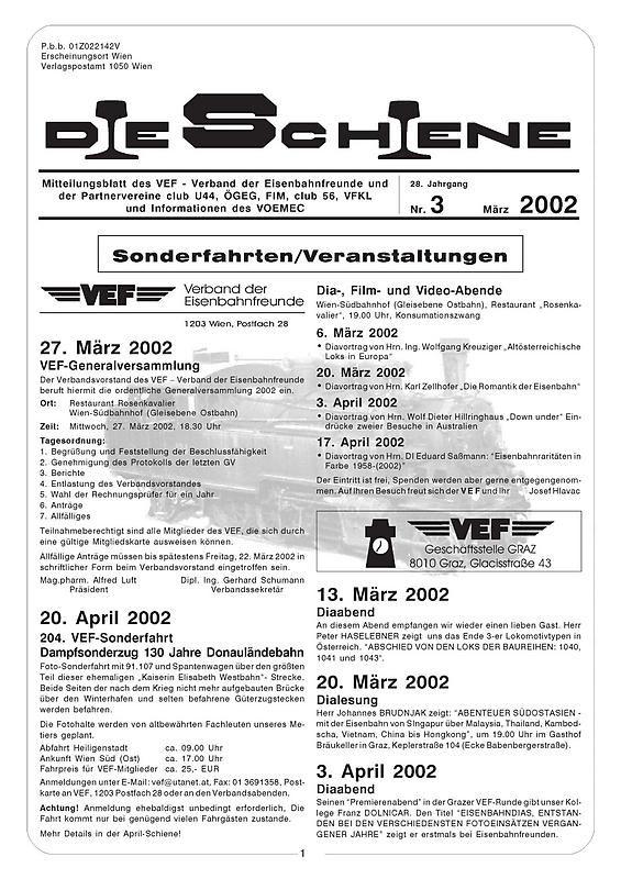 Bucheinband von 'Die Schiene, Band 28/03'