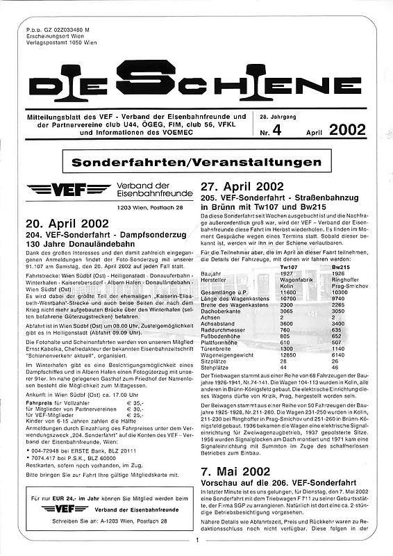 Bucheinband von 'Die Schiene, Band 28/04'