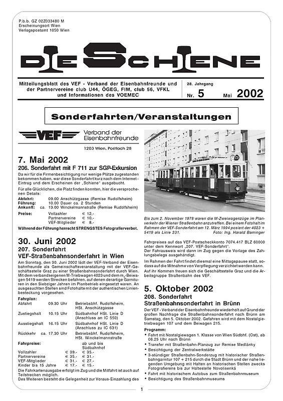 Cover of the book 'Die Schiene, Volume 28/05'