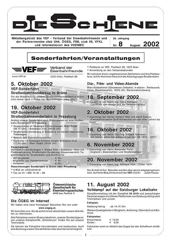 Bucheinband von 'Die Schiene, Band 28/08'