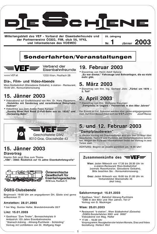 Bucheinband von 'Die Schiene, Band 29/01'