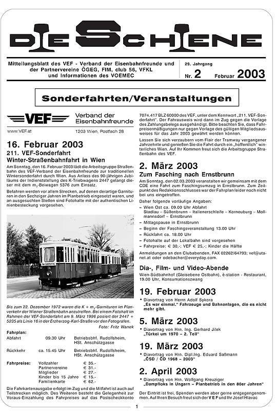 Bucheinband von 'Die Schiene, Band 29/02'