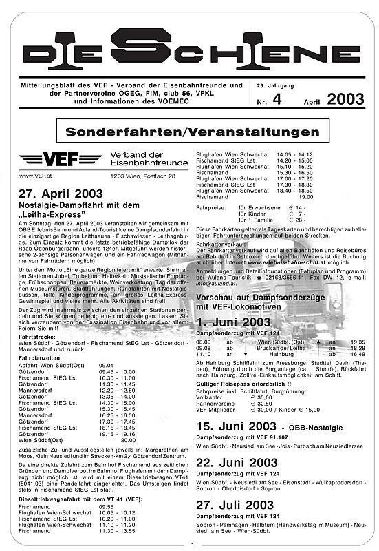 Bucheinband von Die Schiene, Band 29/04