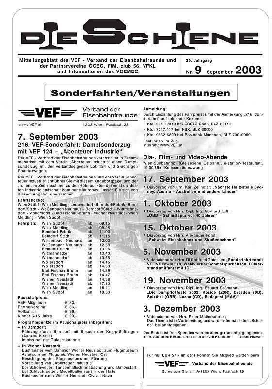 Bucheinband von Die Schiene, Band 29/09