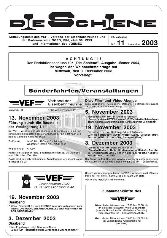 Bucheinband von Die Schiene, Band 29/11