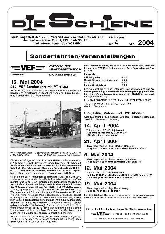 Bucheinband von 'Die Schiene, Band 30/04'