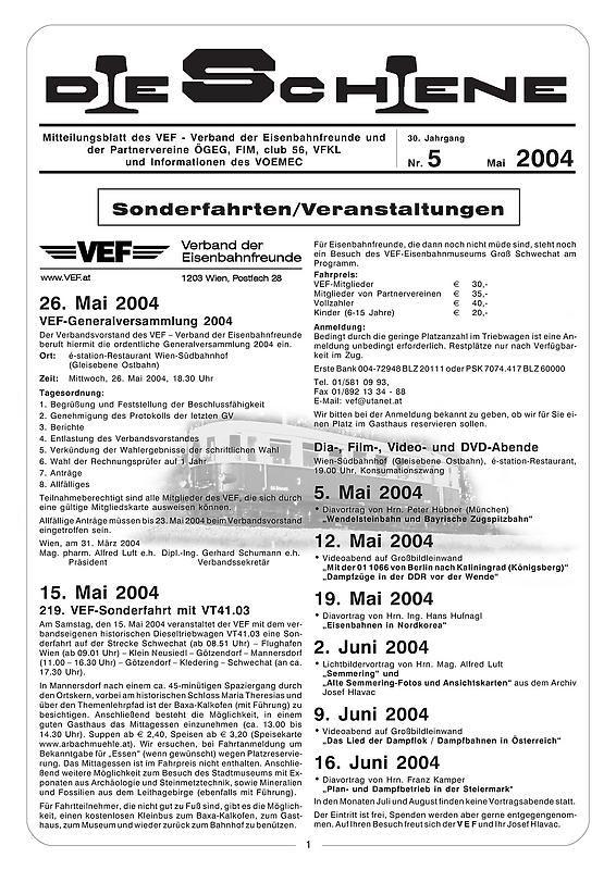 Bucheinband von Die Schiene, Band 30/05