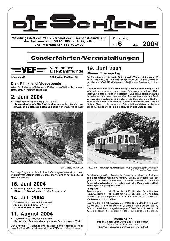 Bucheinband von Die Schiene, Band 30/06