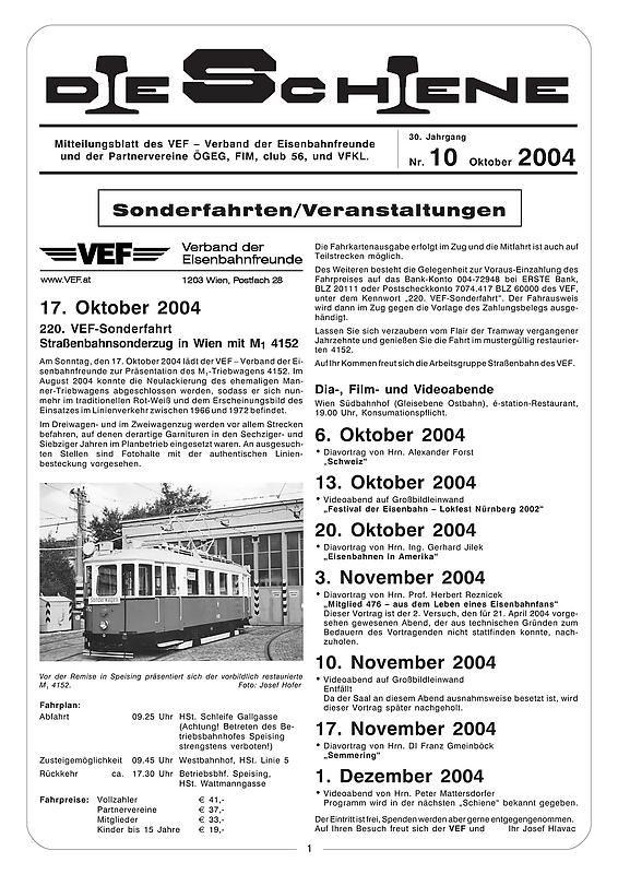 Bucheinband von Die Schiene, Band 30/10