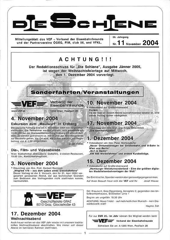 Bucheinband von 'Die Schiene, Band 30/11'