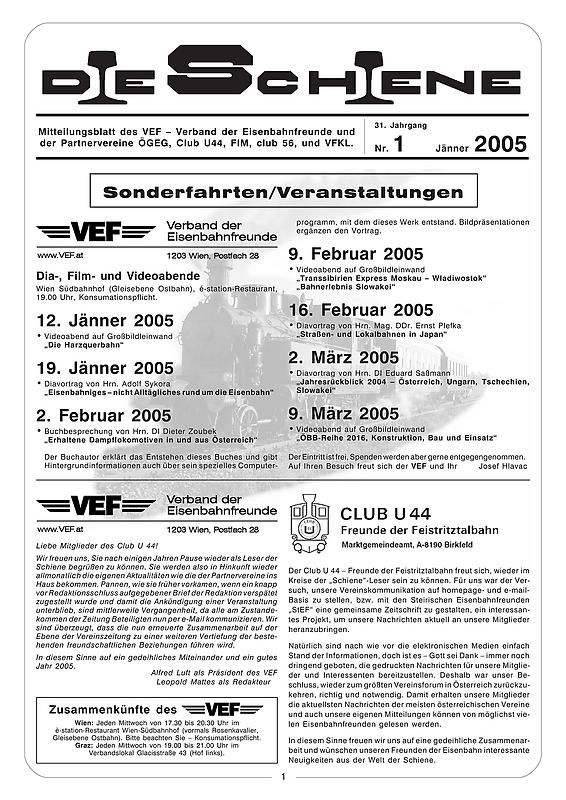 Bucheinband von 'Die Schiene, Band 31/01'