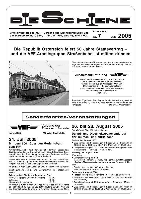 Bucheinband von 'Die Schiene, Band 31/07'