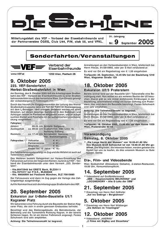 Bucheinband von 'Die Schiene, Band 31/09'