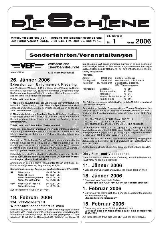 Bucheinband von Die Schiene, Band 32/01
