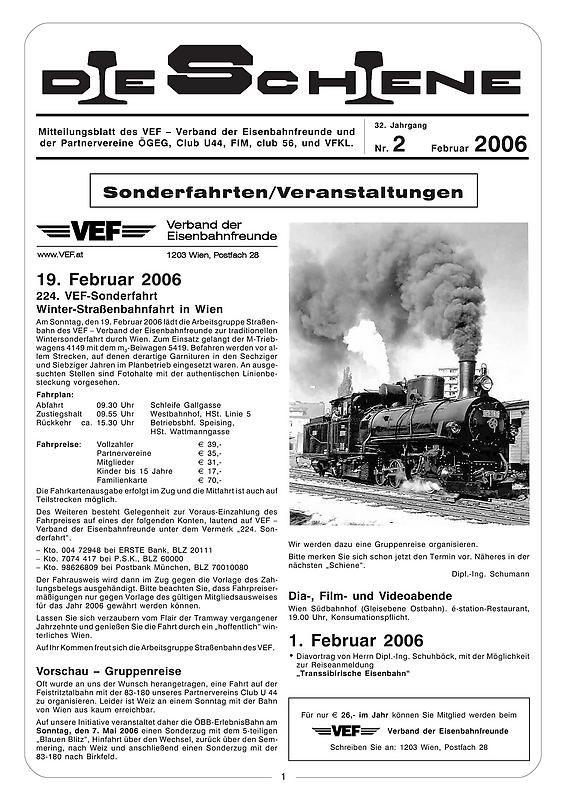 Bucheinband von Die Schiene, Band 32/02