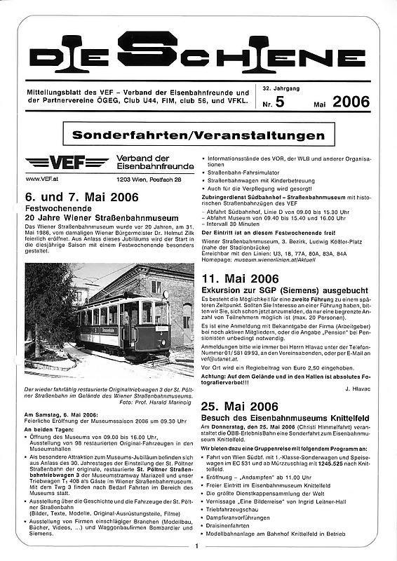 Bucheinband von Die Schiene, Band 32/05