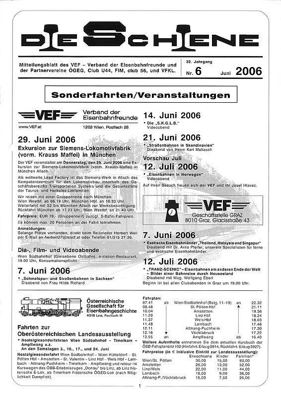 Cover of the book 'Die Schiene, Volume 32/06'