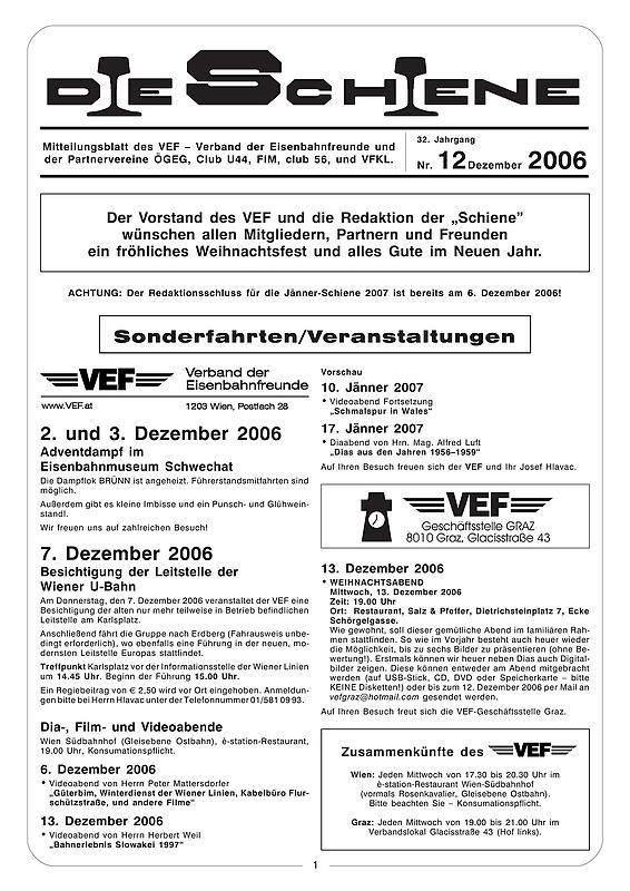 Bucheinband von Die Schiene, Band 32/12